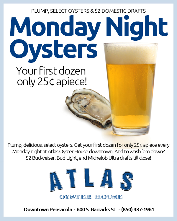 Monday Night Oyster Night at Atlas